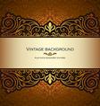 Vintage card gold royal vector image vector image