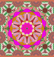 vintage pattern mandala colored on a pink neutral vector image vector image