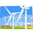 wind power station ecological energy producing vector image vector image