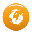 world tourism icon orange vector image vector image