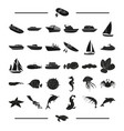 transport tourism nature and other web icon in vector image