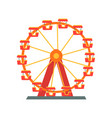 colorful ferris wheel from amusement park vector image
