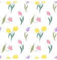 Floral seamless pattern with tulips vector image
