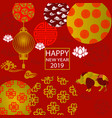 2019 new year paper cutting year of boar vector image vector image