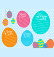 a happy easter card template vector image