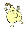 a nice pear comic cartoon vector image vector image