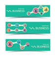 abstract business horizontal banners set vector image vector image