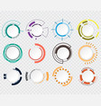 abstract technology circle grey white and vector image vector image