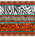 african animal print pattern background vector image vector image