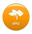 apple tree icon orange vector image