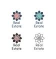 asian logo templates vector image vector image