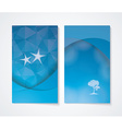 Banner set with blue background vector image vector image