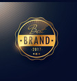 best brand golden badge and label design vector image vector image