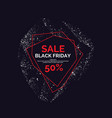 black friday sale gold silver shiny particles on vector image