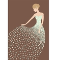 bride in dress made flowers vector image vector image