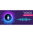 bright banner for voice and sound recording vector image vector image