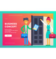 business concept all doors are open vector image