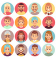cartoon avatars people different sexes ages vector image