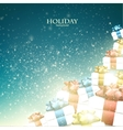 christmas background with gifts xmas boxes vector image vector image