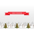 Christmas greeting card template vector image vector image