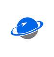 circle arrow logo template design vector image vector image