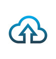 cloud computing data upload logo icon vector image vector image