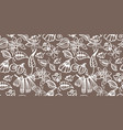 coffee color floral pattern vector image vector image