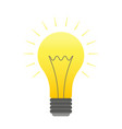 color lightbulb icon bright cartoon bulb vector image