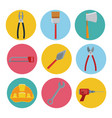 construction tools icons set ilustration vector image vector image