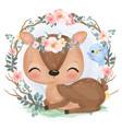 cute animal in watercolor