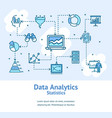 data analytics statistics signs banner card vector image vector image