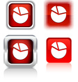 Diagram icons vector image vector image