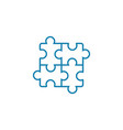 doing puzzles linear icon concept doing puzzles vector image