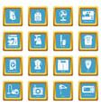 domestic appliances icons set sapphirine square vector image vector image