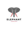 elephant head logo icon vector image vector image