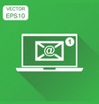 email envelope message on laptop icon business vector image