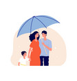 family protection concept man holding umbrella vector image vector image