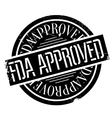 Fda approved stamp vector image vector image