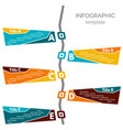 five steps infographic design elements vector image vector image