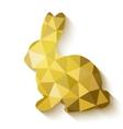 Flat design polygon of golden Easter Bunny vector image vector image