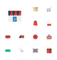 flat icons trolley bag bus and other vector image vector image