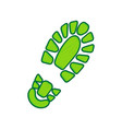 footprint boot sign lemon scribble icon vector image vector image
