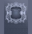 Gray Blue Ornament Cover vector image vector image