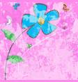 gunge daisy card vector image