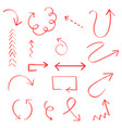 hand drawn arrow set icon collection of pencil vector image vector image