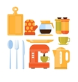Kitchen Utensils Set vector image vector image