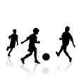 Little soccer players vector image