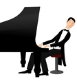 Man playing piano with passion vector image