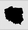 map poland isolated black on vector image vector image