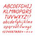 marker hand written doodle symbols vector image vector image